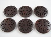 30pcs New Pierced Flower Wood Buttons 30mm Sewing Craft