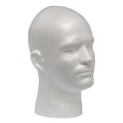 Male Styrofoam Mannequin Head Display