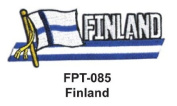 2.5cm - 1.3cm X 10cm - 1.3cm Flag Embroidered Patch Finland