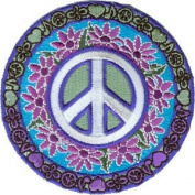 Novelty Iron on - Peace Signs Love Music Peace Logo Patch