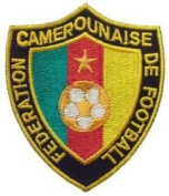 Cameroon Federation Camerounaise De Football Fifa World Cup Soccer Iron on Patch Crest Badge ... 7cm X 6.4cm .. New
