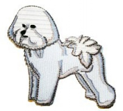 Bichon Frise Dog Breed Embroidered Iron on Patch
