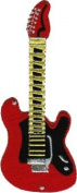 Fender Stratocaster - Red And Yellow Guitar - Embroidered Iron On Or Sew On Patch