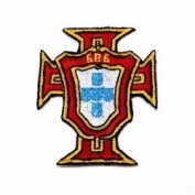 Portugal Santa Maria Fifa World Cup Iron on Patch Crest Badge ... 5.7cm X 7cm .. New