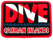 Dive Grand Cayman Islands Patch Embroidered Iron On Scuba Diving Flag Emblem Souvenir