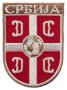 Serbia Srbija Fifa World Cup Soccer Iron on Patch Crest Badge ... 5.1cm X 7cm .. New