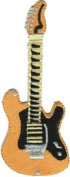 Fender Stratocaster - Gold And Orange Guitar - Embroidered Iron On Or Sew On Patch