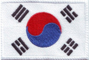South Korea Flag Embroidered Sew on Patch