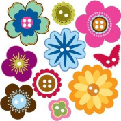 Ki Memories KI Memories Bloom Softies, Shape Buttons 10/Package