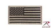 Rothco us flag patch w/hook back - khaki/black
