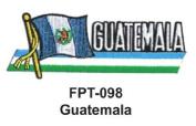 2.5cm - 1.3cm X 10cm - 1.3cm Flag Embroidered Patch Guatemala