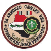 2nd Armoured Cavalry Reg. Operation Iraqi Freedom Patch