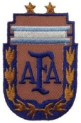 Argentina AFA with Gold Leaf Fifa World Cup Soccer Iron on Patch Crest Badge ... 7cm X 5.1cm .. New
