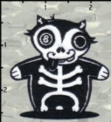 Artist Chico Von Spoon 8 Ball Bones Pool Embroidered Iron On Applique Patch FD