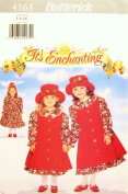 BUTTERICK 4163 GIRL'S DRESS, PINAFORE & HAT (SIZE 5-6-6X) IT'S ENCHANTING SEWING PATTERN