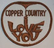 Copper Country Love You Cloth Patch