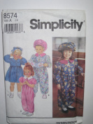 Simplicity Pattern 8574 Toddlers' Dress, Jumpsuit and Hat Sizes 1-4