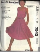 VINTAGE McCall's EASY FIT - EASY SEW Pattern #7542 ALL SIZES ***MISSES' DRESS***