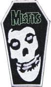 5.7cm x 10cm THE MISFITS Casket Skull Crimson Hardcore Heavy Metal Rockabilly Rock Punk Music Band Logo jacket T-shirt Patch music patch by Tourlesjours
