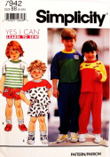 SIMPLICITY 7942 (LEARN TO SEW) Children Pants, Shorts, & Top