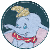 Disney Dumbo In Stitched Circle Iron-On Applique-