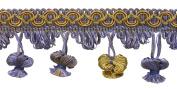 Lavender Blue 5.1cm Imperial II Onion Tassel Fringe Style# NT2503 Colour