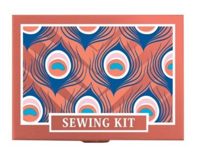 2819 Sewing Kit Coral Skies Peacock