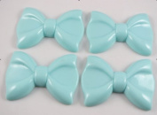 8pcs 60mm Resin Hair Bow Flatback Button-blue Hot Products
