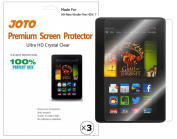 """JOTO Premium Screen Protector Film Ultra Clear (Invisible) for New Kindle Fire HDX 7 inch Tablet (will only fit Kindle Fire HDX 7""""), with Lifetime Replacement Warranty"""