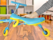 Fly Bike Foldable Indoor/Outdoor Toddlers Glide Tricycle - No Assembly Required - Blue