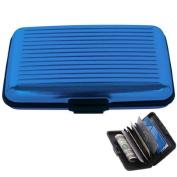 TOOGOO(R) Wallet Credit Card Holder RFID Blocking - Blue Color