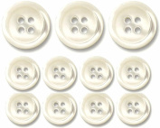 Genuine Pearl Buttons- Set of 11