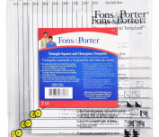 Fons & Porter Triangle Square And Hourglass Template FP7813