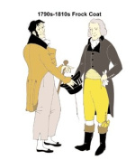 1790s-1810s Frock Coat / Regency Tailcoat Pattern