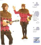 Burda 2498 Pattern Lord of the Castle, Troubadour Costume Size 36 - 48