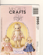 McCall Crafts Sewing Pattern 2995 - Use to Make - 36cm Kewpie Doll and clothes