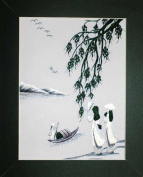 Hand Embroidered Painting - Vietnamese Girls- Made in Vietnam- SEP50