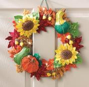 BUCILLA Harvest Time Wreath Felt Applique Kit, 38cm by 38cm