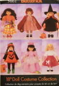 Butterick Sewing Pattern 5661 46cm Doll Halloween Costumes