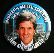 DEMOCRATIC NATIONAL CONVENTION BOSTON 2004 Political Pin Back Button JOHN KERRY DELEGATE