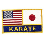 USA & Japan Flags / Karate Patch - 10cm Dia. - 10 Pack