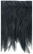 Expo Feather Fringe 10cm Wide 10 Yards-Black