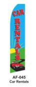 HPP 11-1/2' X 2-1/2' Brand New Advertising Tall Flag- Car Rentals