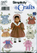 "Simplicity Sewing Pattern 5420 Clothes For 46cm Doll ""Design Your Own"""