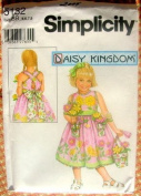 Simplicity 5132 Daisy Kingdom Girl's Summer Dress & Flowerpot Purse- Size BB