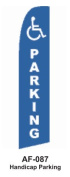 HPP 11-1/2' X 2-1/2' Brand New Advertising Tall Flag- Handicap Parking