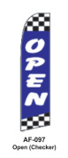 HPP 11-1/2' X 2-1/2' Brand New Advertising Tall Flag- Open