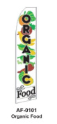 HPP 11-1/2' X 2-1/2' Brand New Advertising Tall Flag- Organic Food