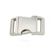 Batz Corporation 1.6cm Aluminium Side Release Buckle - 10 Pack