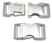 10 - 2.5cm Aluminium Side Release Buckles